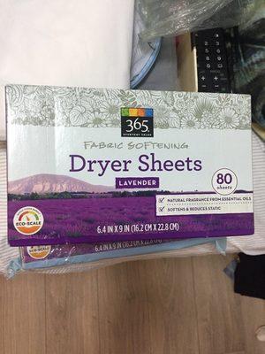 365 dryer sheet lavender 80 pieces - Product - en