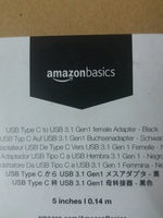 AmazonBasics USB 3.0 Type C to USB A Female Adapter(Black) - Product