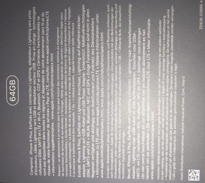 Apple - MQ 8 L 2 ZD / a - Ingredients