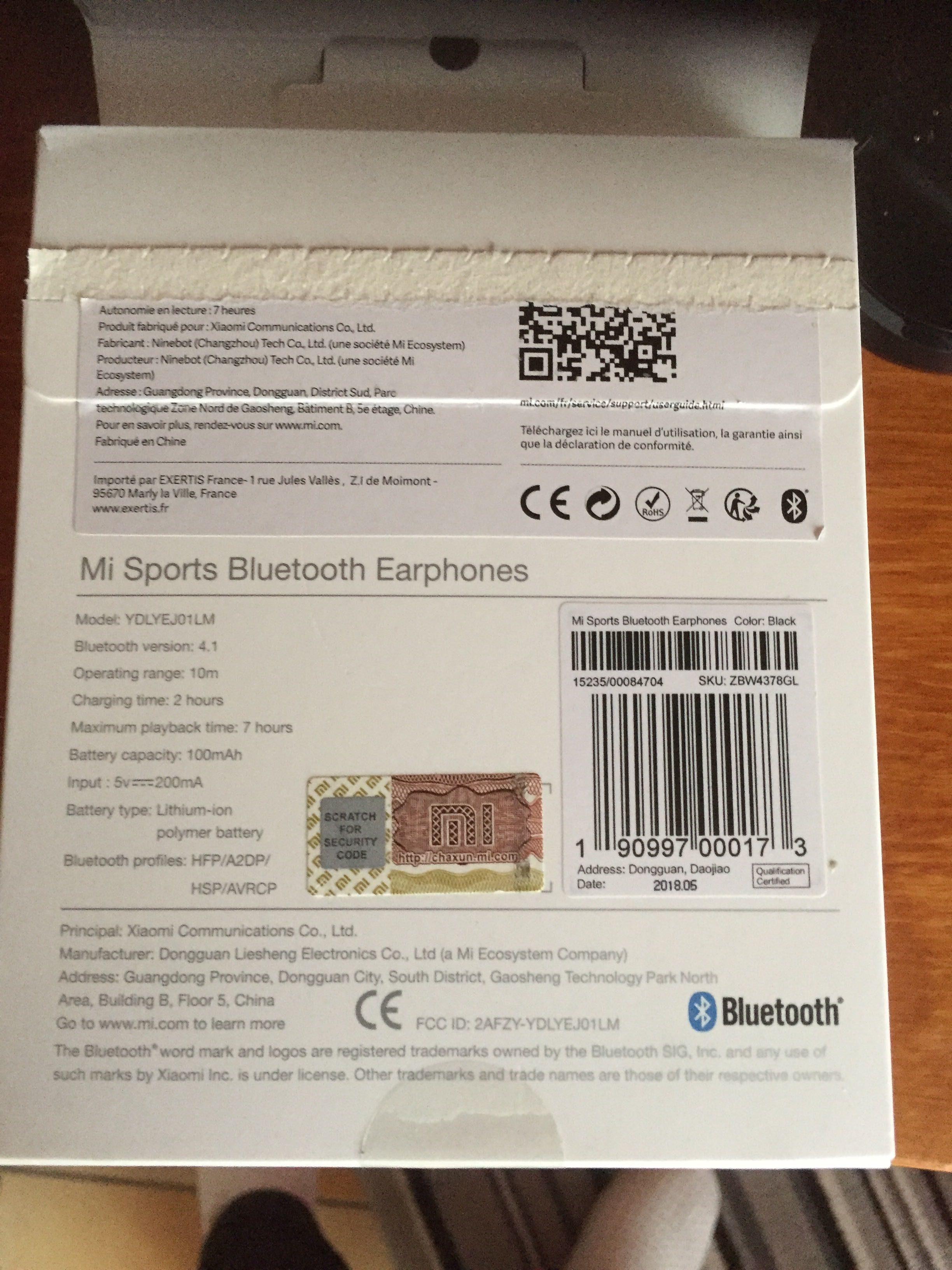 Mi sports Bluetooth earphones - Produit - fr