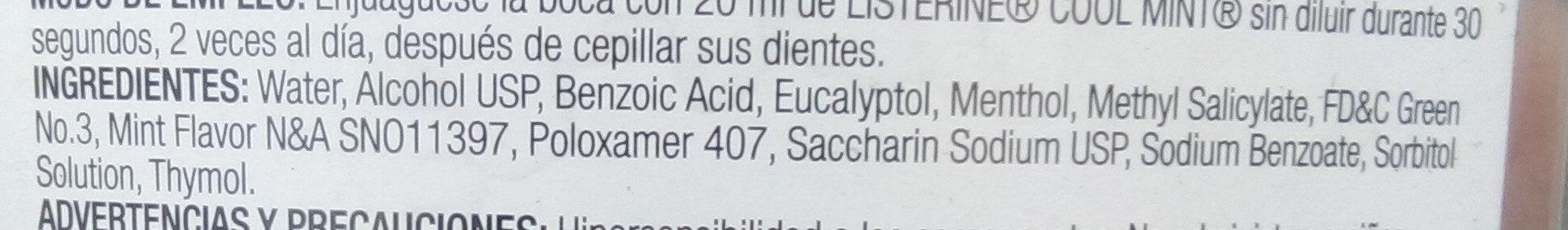 Enjuague bucal - COOL mint - Ingredients - es