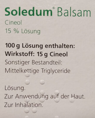 Soledum Balsam - Ingredients - de