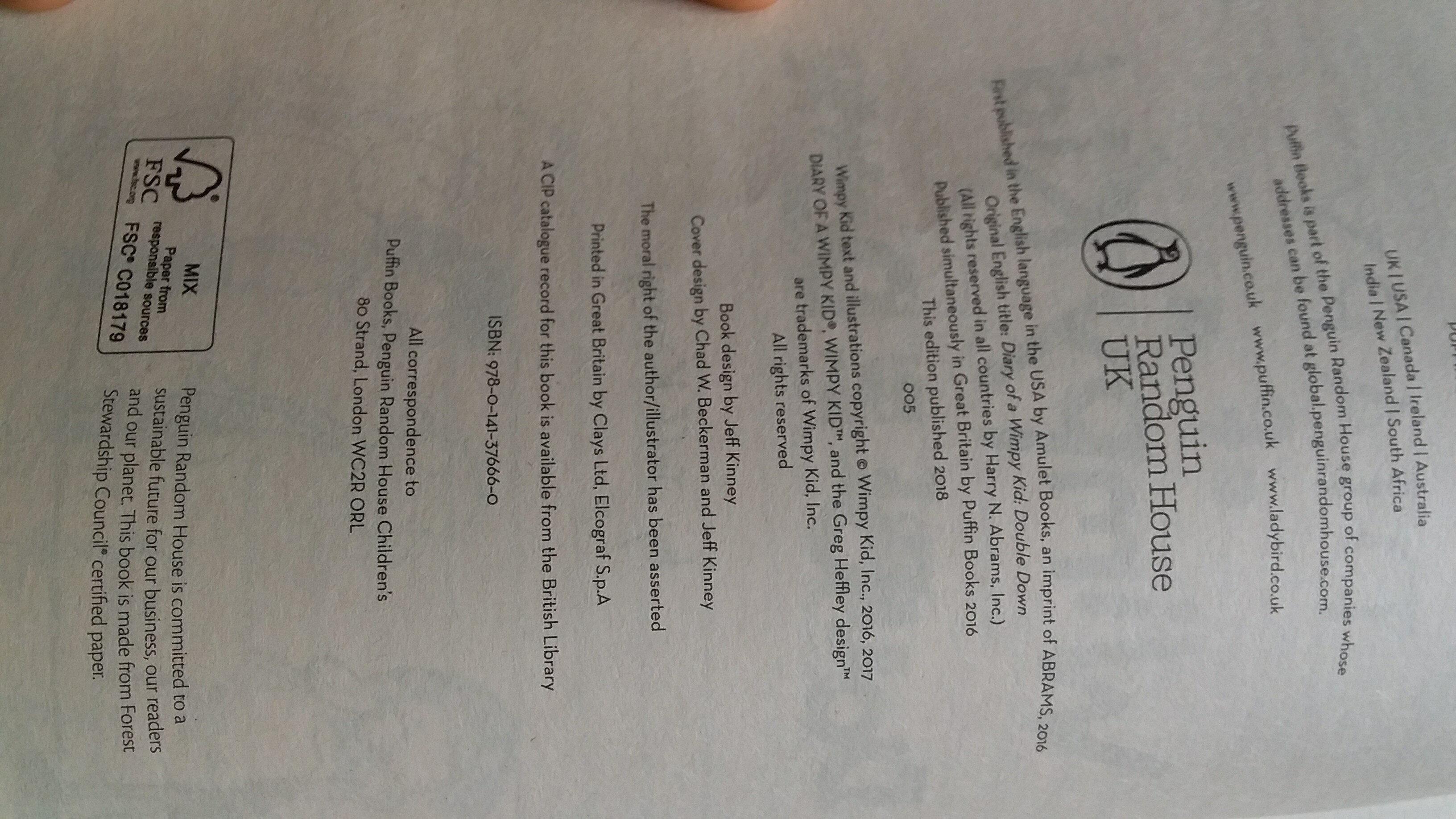 Diario de greg 11 - Ingredients - es