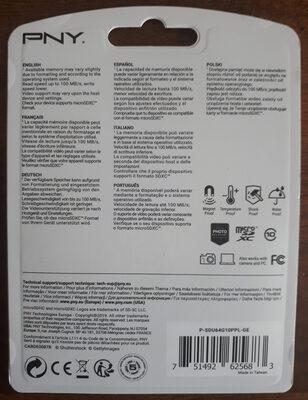 microSDXC Flash Card - Ingrédients