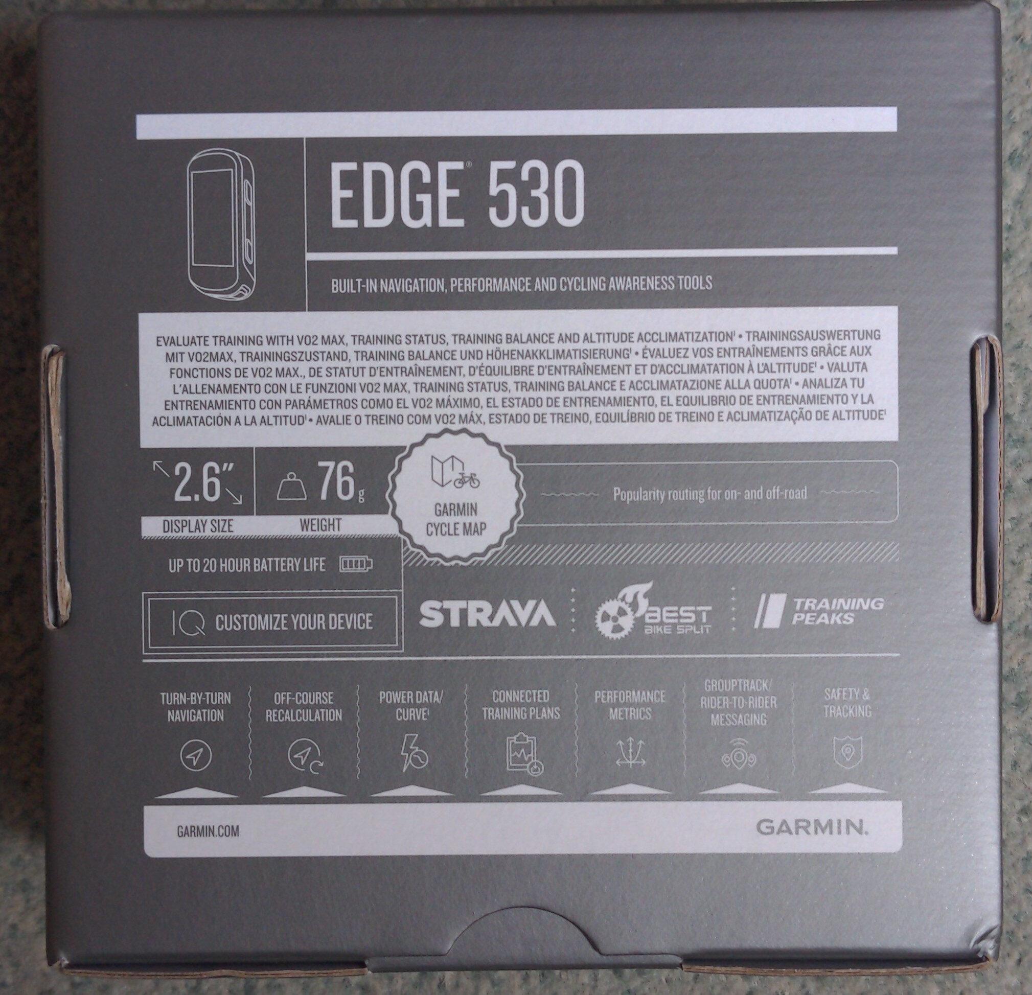 Edge 530 - Ingredients - fr