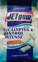 JETgum - Goût Eucalyptus & Menthol Intense - Product - fr