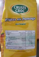 flûte au fromage - Ingrédients