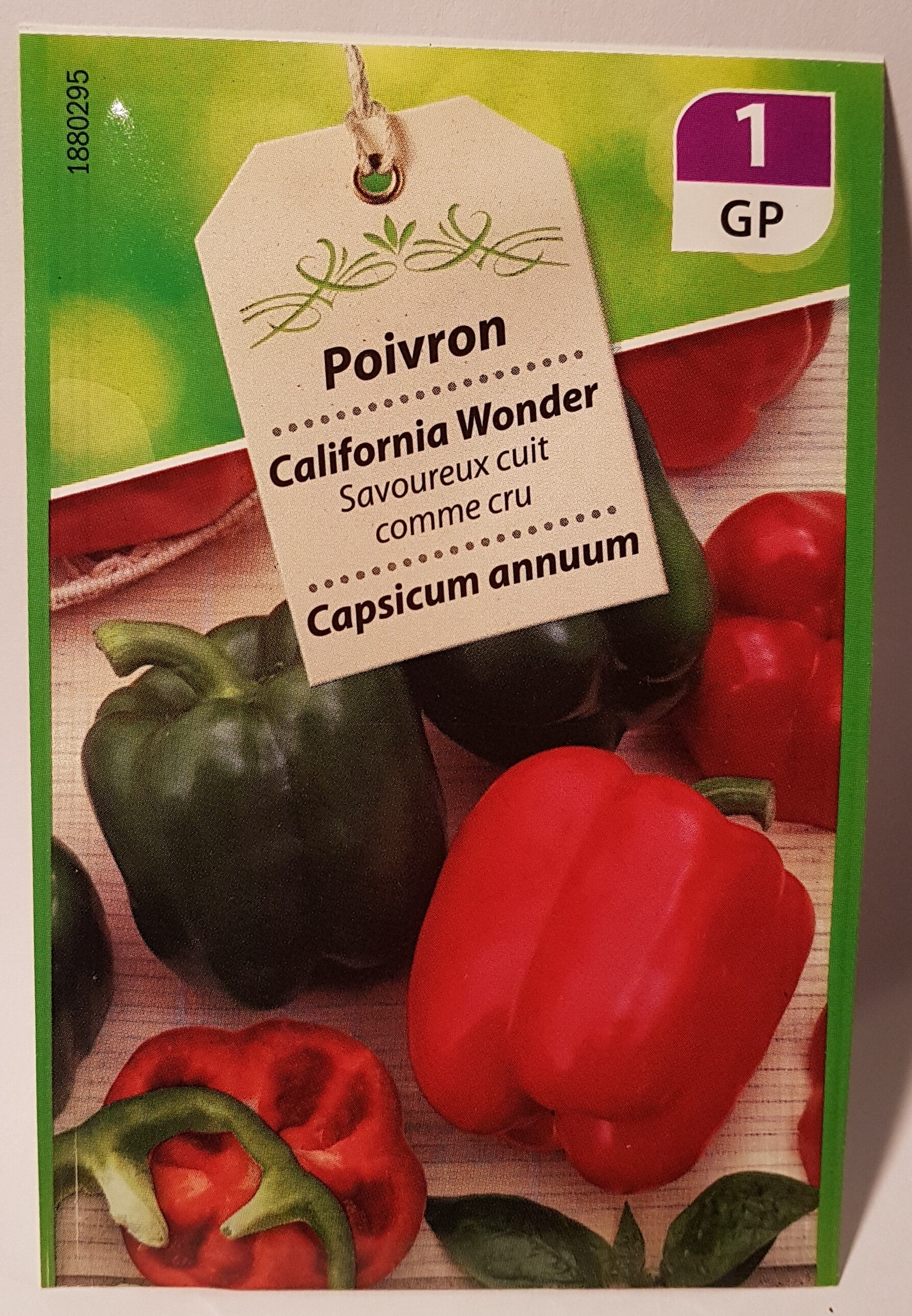 Poivron California Wonder - Product - fr