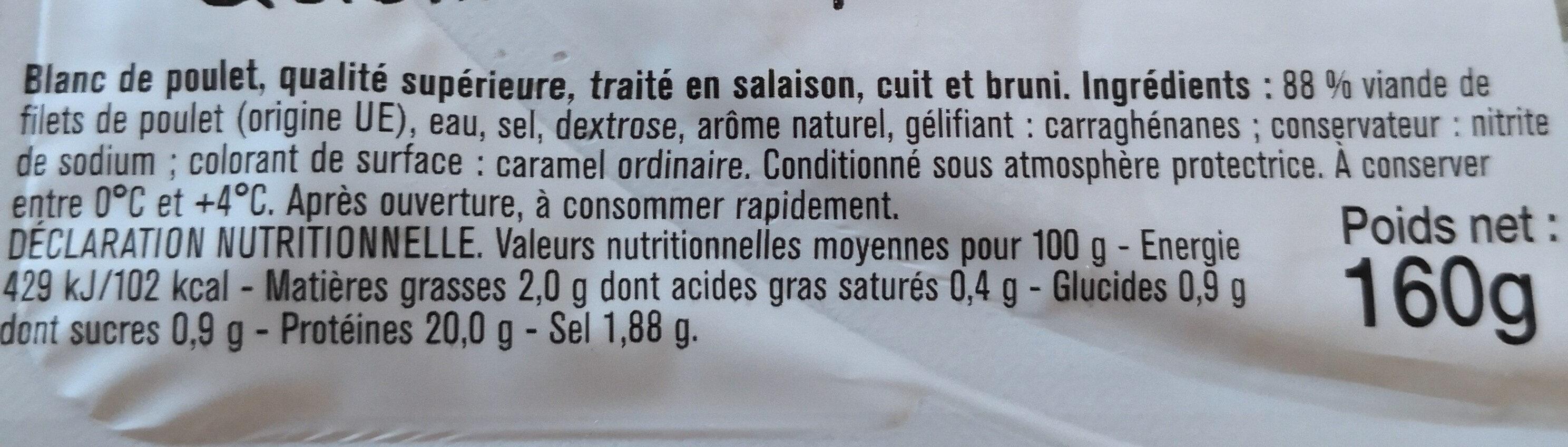 blanc de poulet - Ingredients