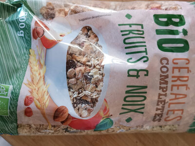 bio céréales complètes fruits et noix - Product