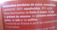 chouchou cacahuètes caramélisées - Ingredients
