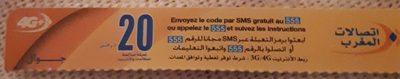 Carte de recharge 20DH - Product
