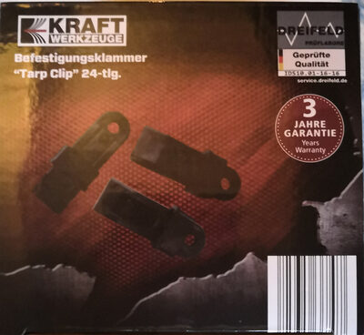 "Kraft Werkzeuge Befestigungsklammer ""Tarp Clip"" 24-tlg. - Product - de"