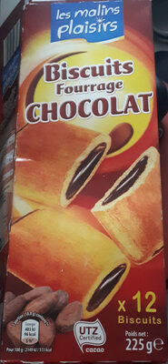 biscuits fourrage chocolat - Product - fr