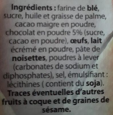 biscuits fourrage chocolat - Ingredients - fr