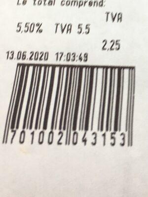 Ticket de caisse - Product - fr
