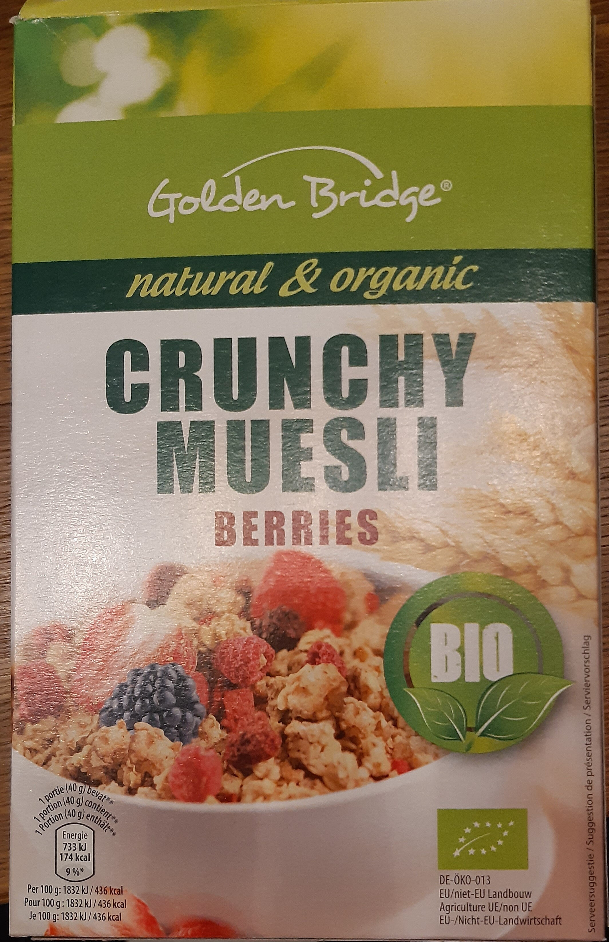 Golden Bridge Crunchy Muesli Berries BIO - Product - en