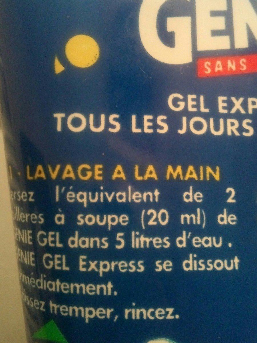 Lessive Gel Express à La Main Genie, - Ingrédients