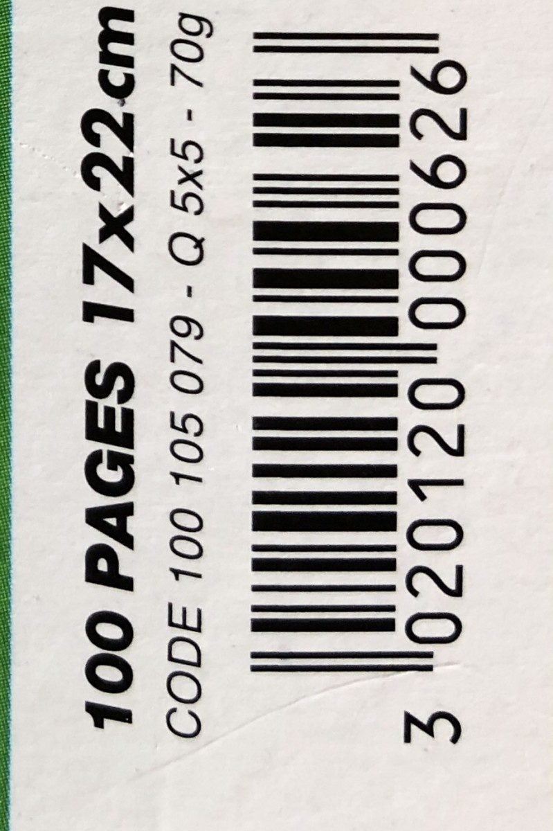 Cahier Reliure Intégrale, 170 X 220 MM - Ingredients