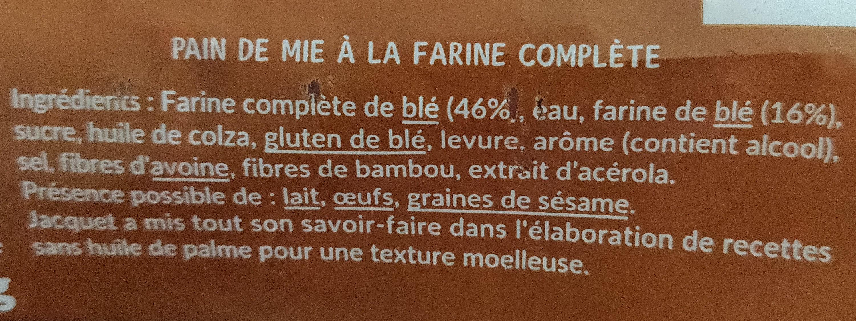 Tartine P'tit dej - Ingredients - fr
