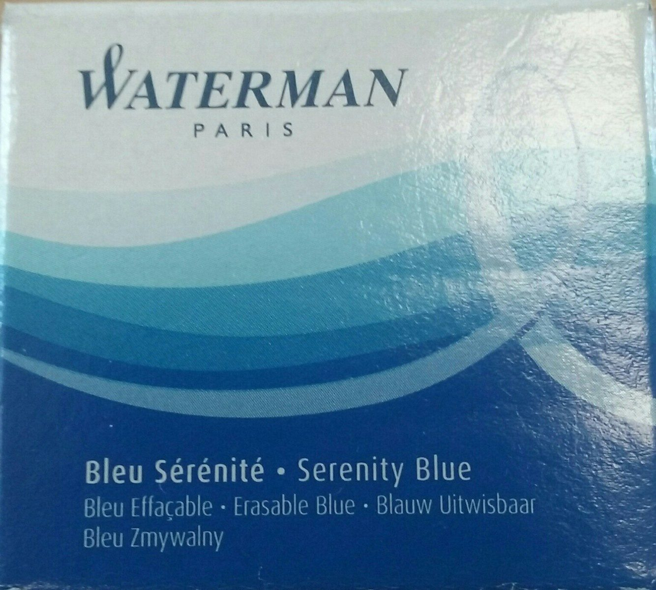 Waterman Cartouches D'encre Standard, Bleu Sérénité - Ingredients
