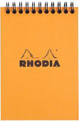 Rhodia Bloc Spiralé, Format A6, Quadrillé 5X5, Orange - Produit - fr