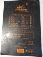 Rhodia Bloc Agrafé No. 20, Format A4+, Quadrillé 5X5, Noir - Ingredients - fr