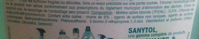 Nettoyant Désinfectant - Ingredients