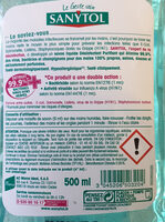 SANYTOL SAVON LIQUIDE - Ingredients