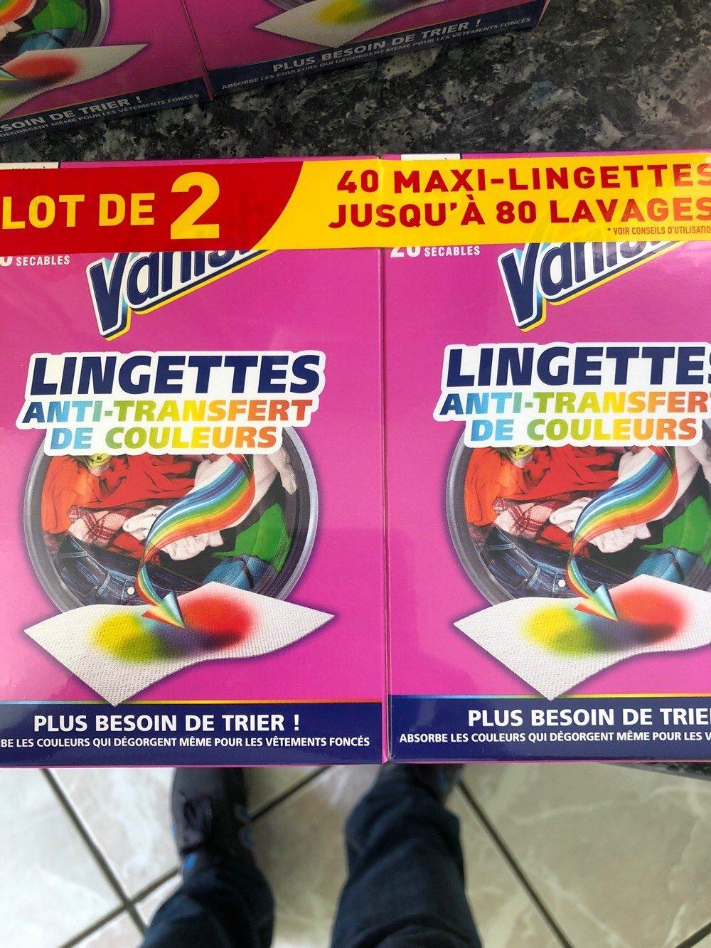 lingettes decolor stop - Produit