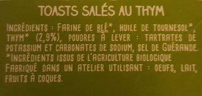 petits craquants salés thym - Ingredients