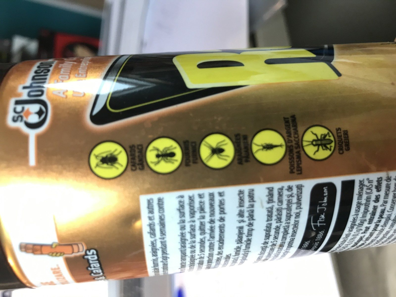 Cafards, fourmis et araignées - Action immédiate - Ingredients