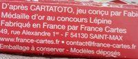 Cartatoto Anglais - Ingrédients - fr