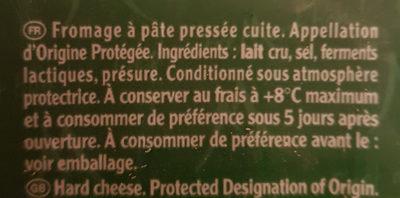 Entremont Comté - Ingredients