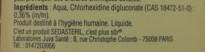 spray antiseptique - Ingredients