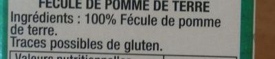 fecule de pomme de terre - Ingredients