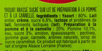 Yaourt pomme-cannelle - Ingredients - fr