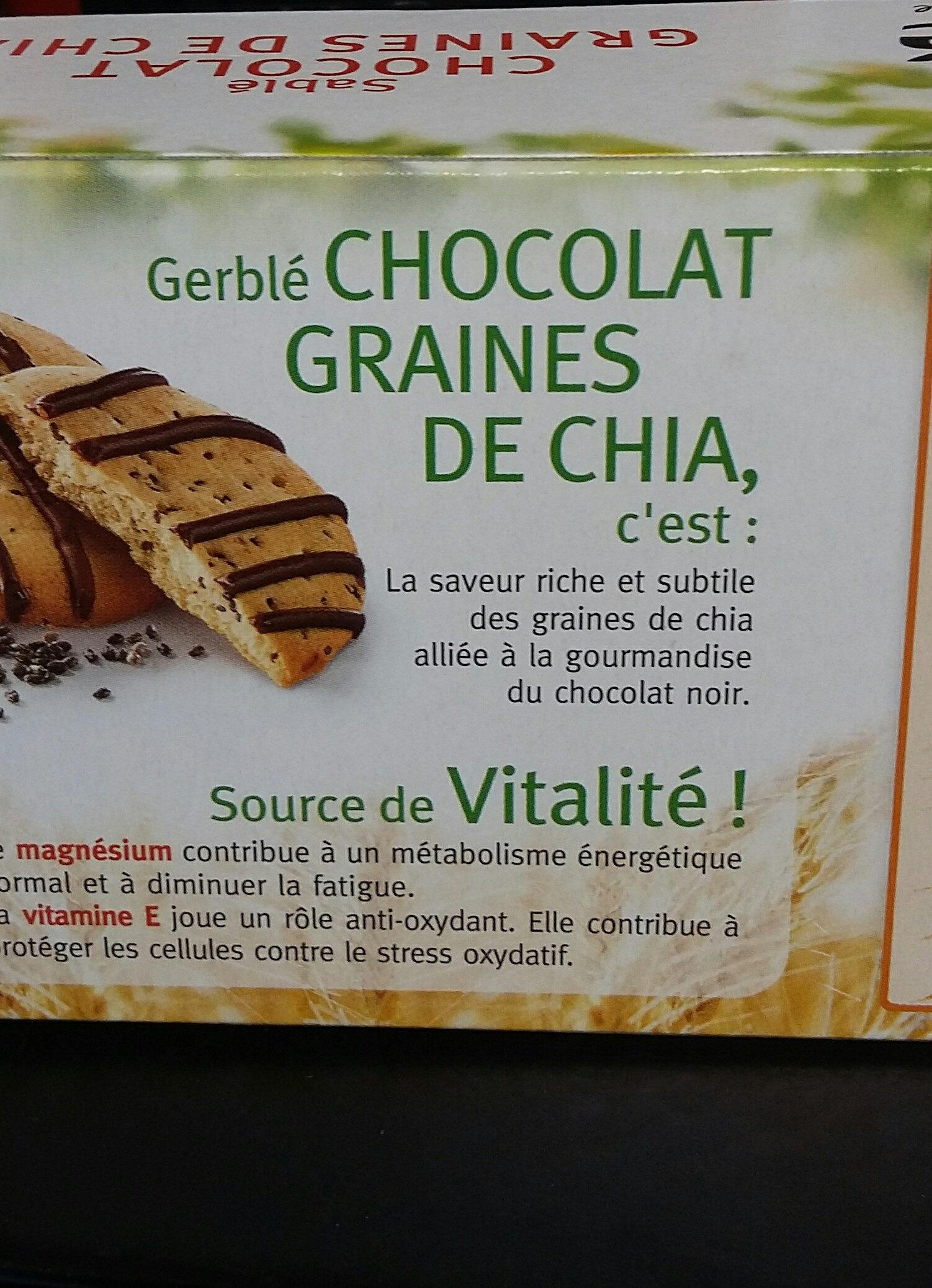 sablés  chocolat  graines  de chia - Product - fr