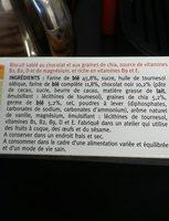 sablés  chocolat  graines  de chia - Ingredients