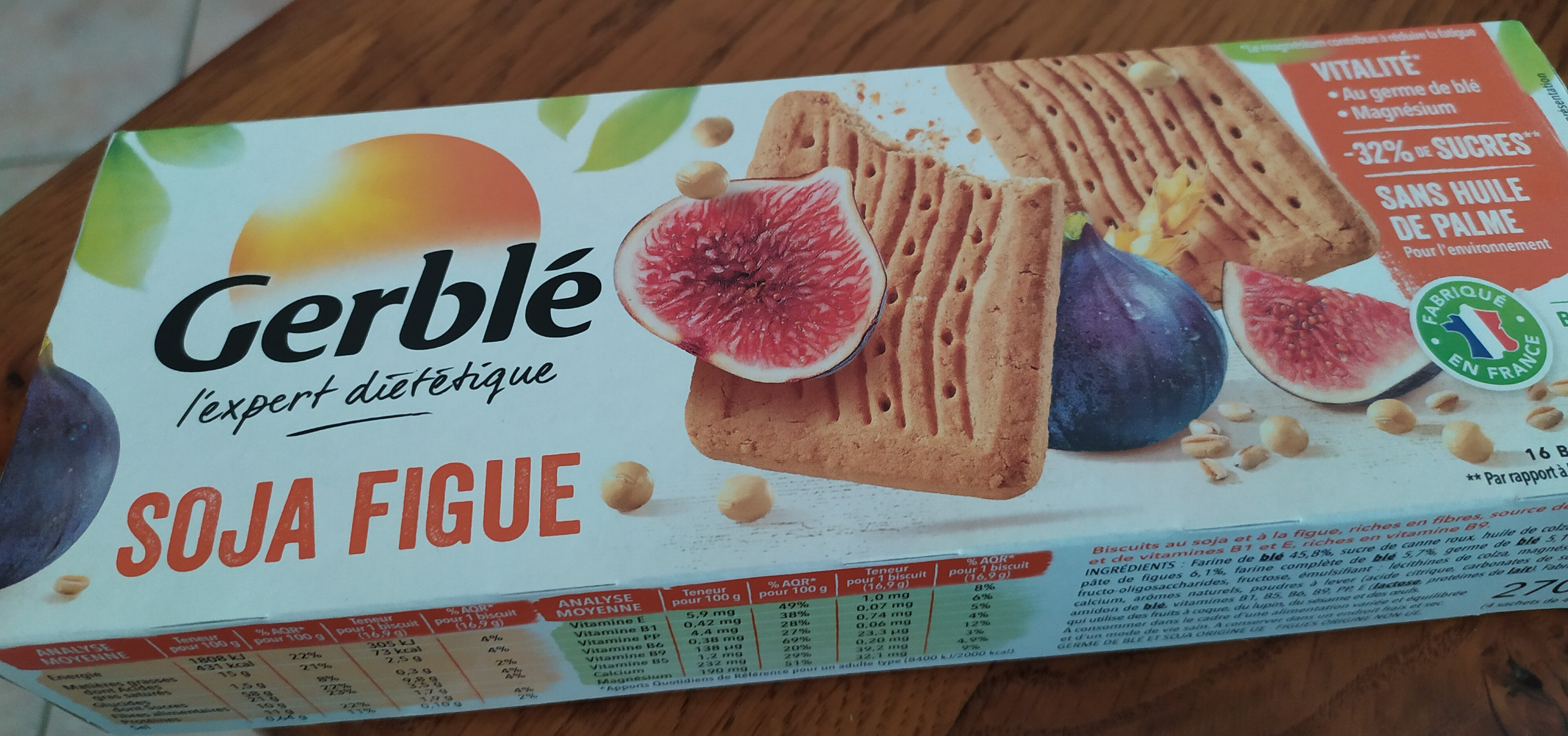 biscuit soja figue - Product - fr