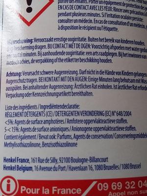 Vaisselle Secrets de Soin Aloé Vera Peaux Sensibles Dégraissant - Ingredients