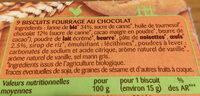 Sablés fourrés - Ingredients - fr