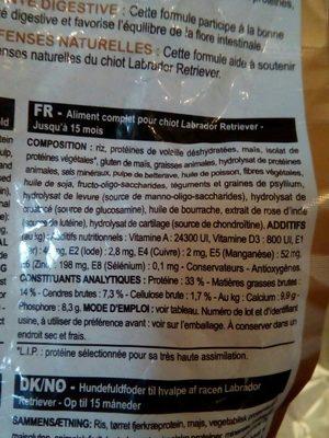 Royal Canin Labrador Junior 1kg - Ingredients