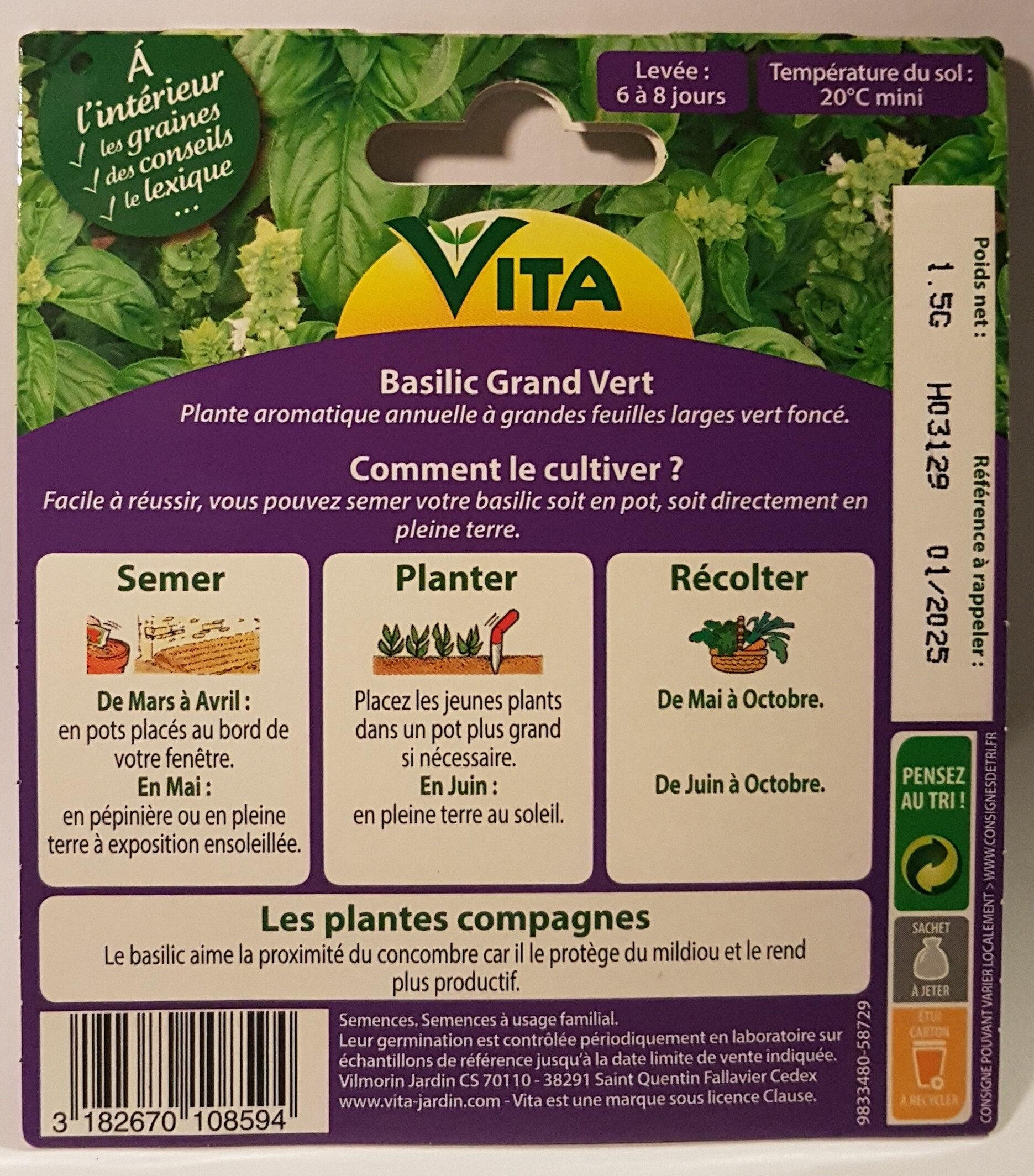 Basilic Grand Vert - Ingredients - en