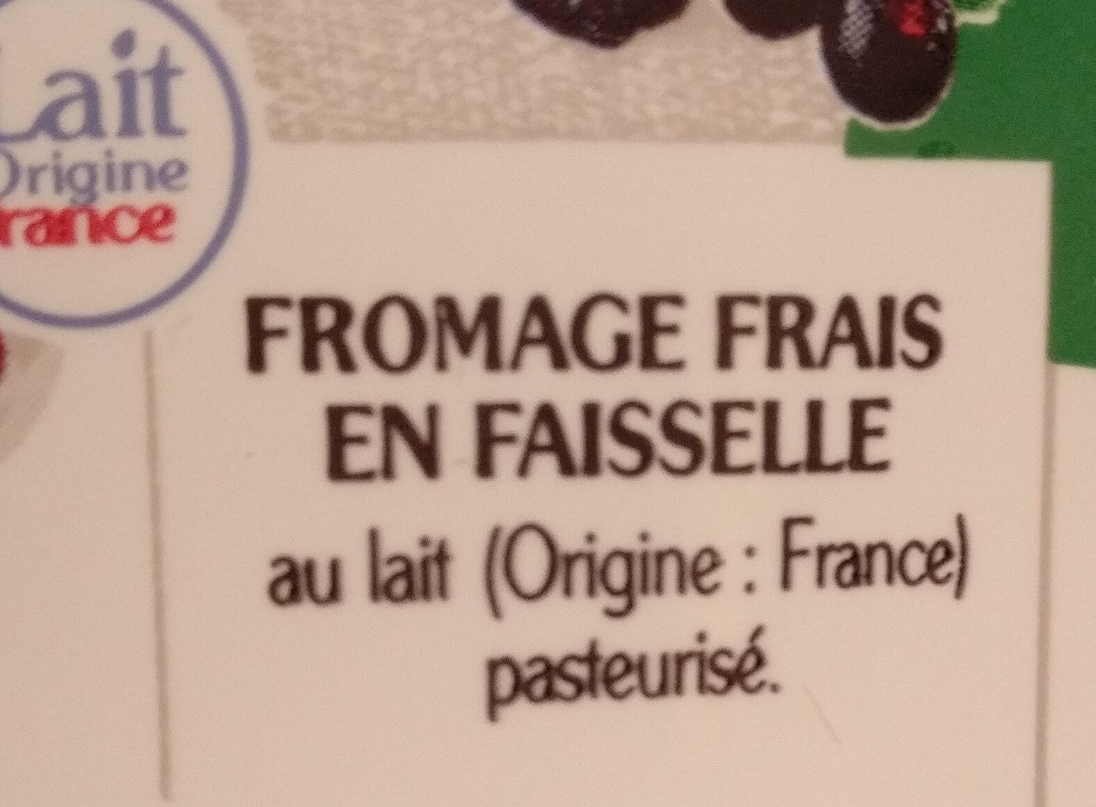 la faisselle - Ingredients