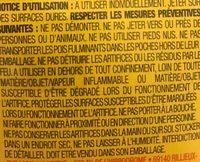 Présentoir De 50 Boites De Clac Doigts - Ingrédients