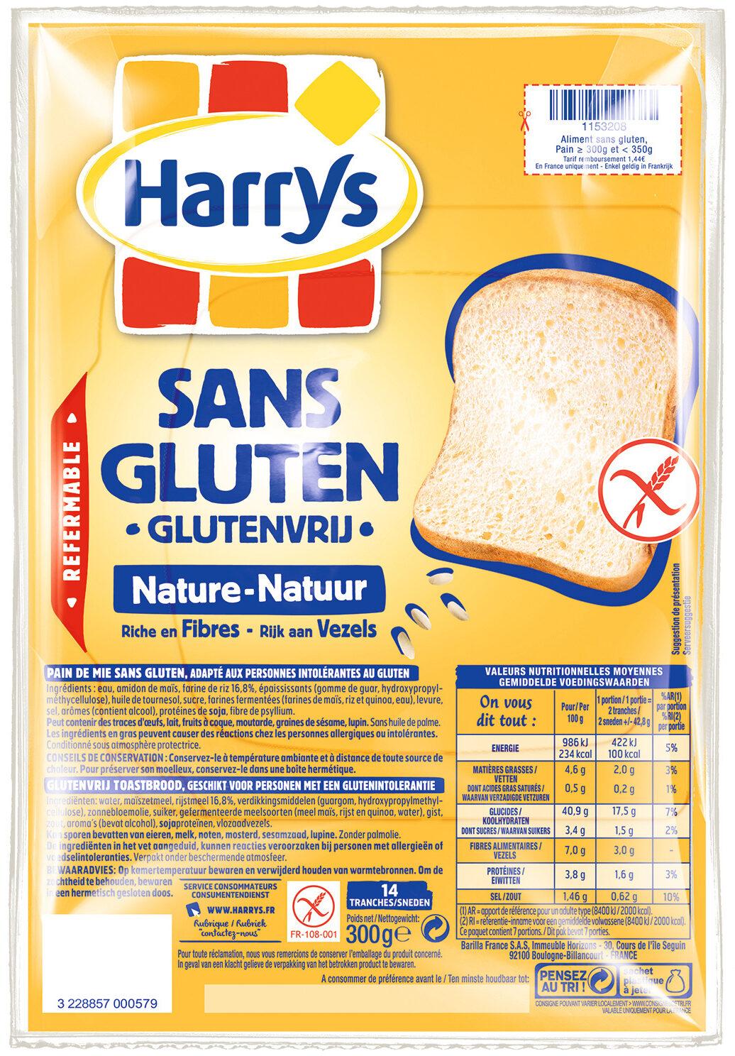Pain de mie nature sans gluten - Product - fr