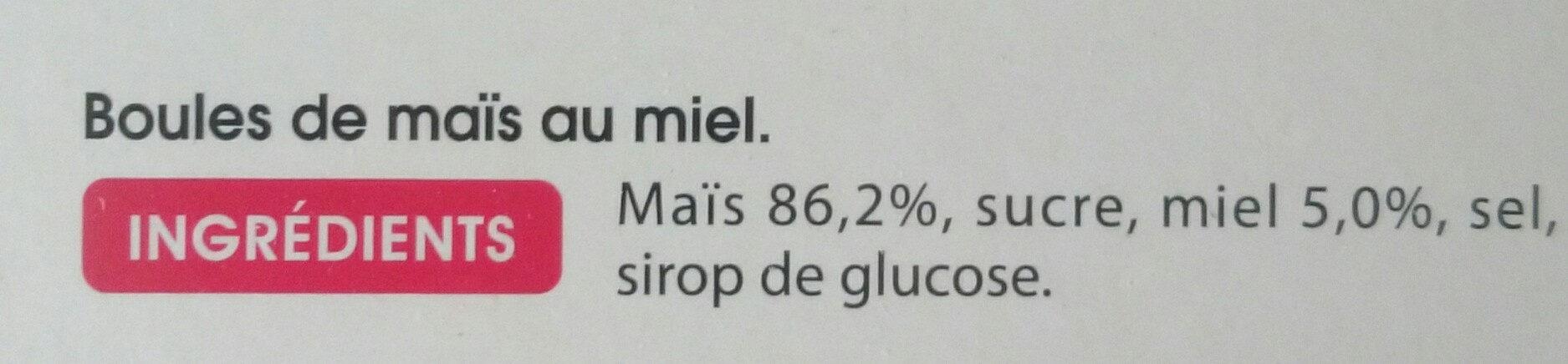 billes miel - Ingredients - fr