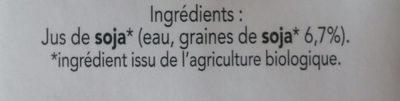 soja nature bio - Ingrédients
