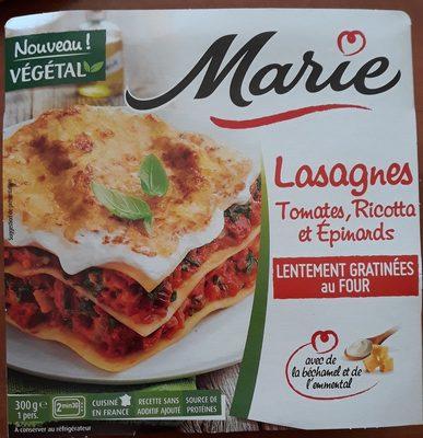 Lasagnes tomates, Ricotta et épinards - Produit